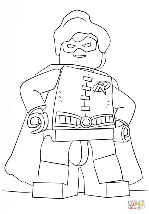 Coloring Pages Of Lego Robin | lego robin coloring page free printable coloring pages