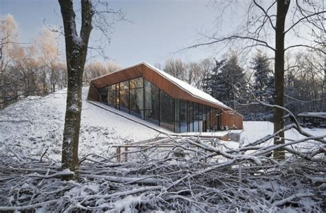 identical houses built on the hill by think architecture unusual house built inside a hill digsdigs