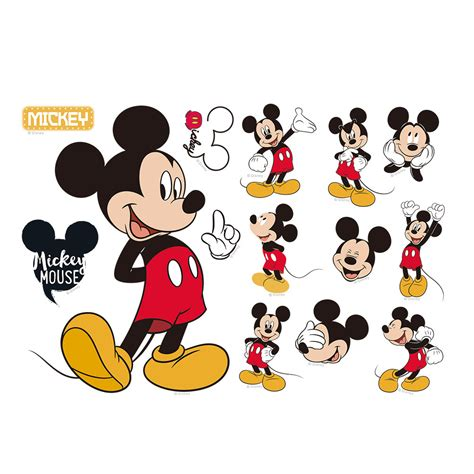 baby mickey mouse wall stickers mickey minnie mouse room decor disney wall sticker