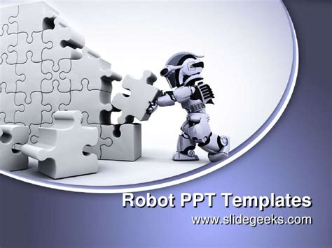 robot powerpoint template robot ppt templates