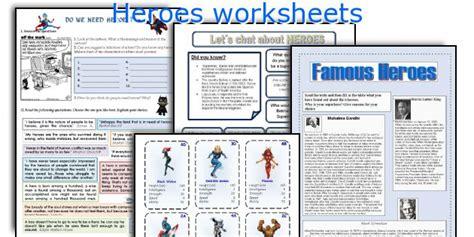 heroes printable worksheets english teaching worksheets heroes