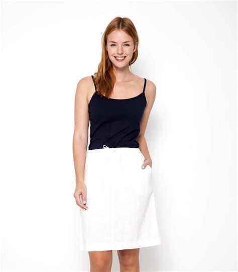 white 51 linen 49 cotton womens linen and cotton skirt