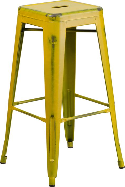 Tolix Bar Stool Yellow by Butter Yellow Weathered Tolix Bar Stool Tablebasedepot