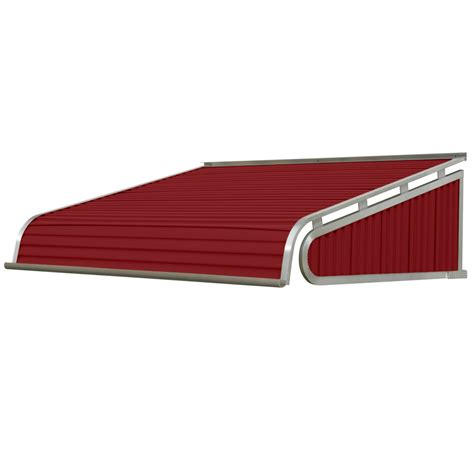 solid awnings shop nuimage awnings 48 in wide x 54 in projection brick red solid slope door awning