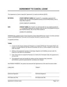 Break Letter Spanish agreement to cancel lease template amp sample form biztree com