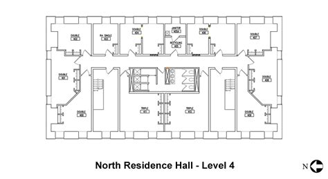 college dorm floor plans housing and floor plans north hamilton college