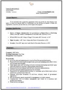 Resume Format Doc For Experienced How To Write An Excellent Resume Sle Template Of An Experienced Mba Finance Marketing