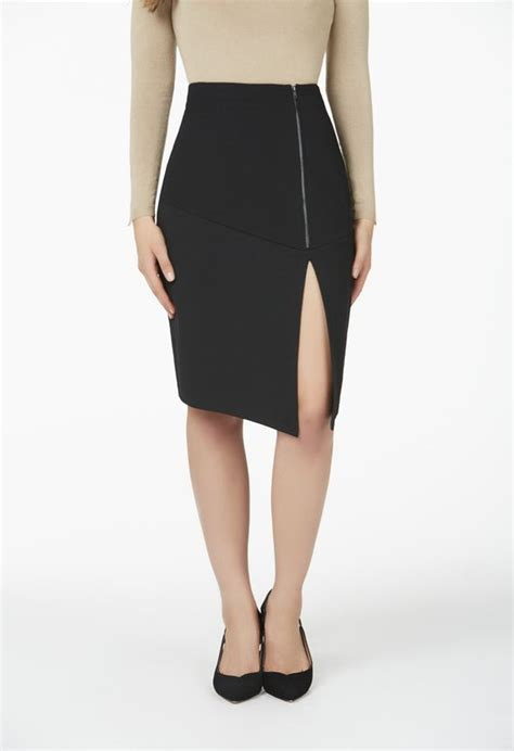 Zip Side Pencil Skirt side zip midi pencil skirt in black get great deals at