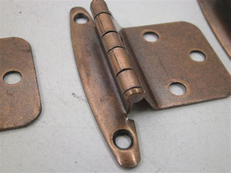 flush mount cabinet hardware nos vintage lot of 10 pair cabinet hinges nice copper