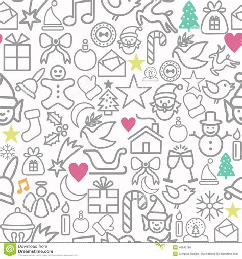 wrapping paper pattern vector merry christmas wrapping paper pattern outline icons stock