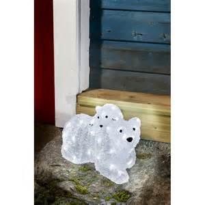 konstsmide outdoor led white acrylic polar bear family