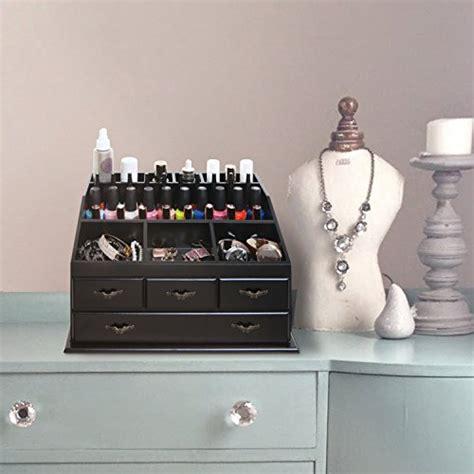 Dresser Top Organizer by Wood Dresser Top Vanity Cosmetic Organizer Chest Box Countertop Jewelry Tray Rack Storage