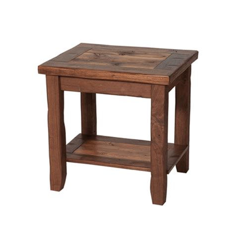 colorado rustic walnut barnwood end table