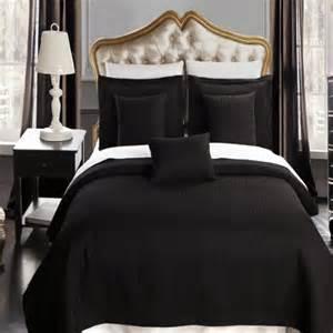 california king size black coverlet 3pc set luxury