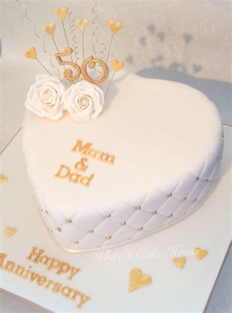 hochzeitstag torte heart shaped golden anniversary cake fondant tutoriels