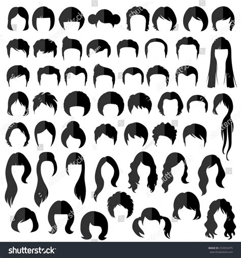 Hairstyle Tools Designs For Silhouette by Hair Vector Hairstyle Silhouette Stock Vector