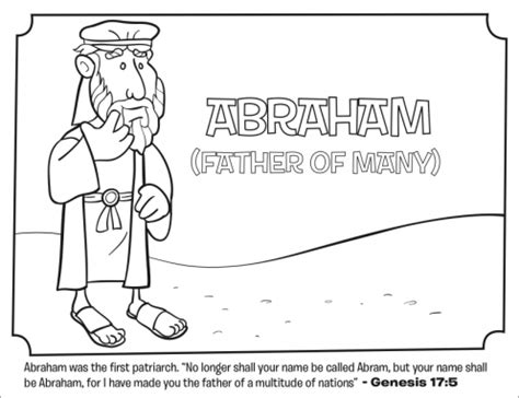 preschool coloring pages abraham kids coloring page from what s in the bible featuring