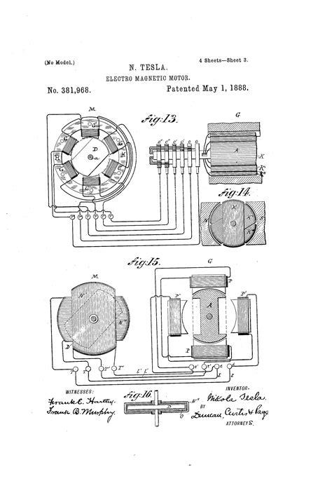 tesla motor patent patent us381968 electro magnetic motor patents