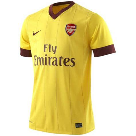 arsenal jersey history arsenal away jersey for 2010 11 season revealed photo