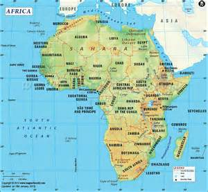 A Map Of Africa by Getting To Know Africa 50 Interesting Facts National