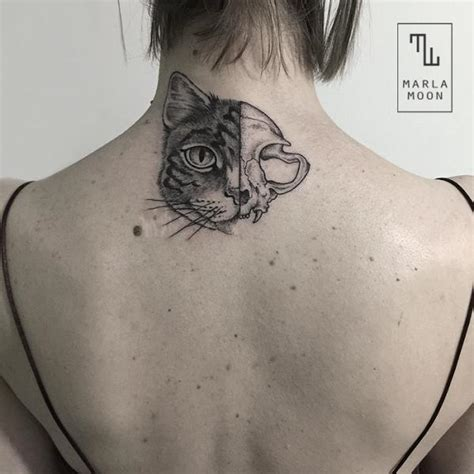 tattoo cat dots tattoos for dot work cat skull tattoo www getattoos us