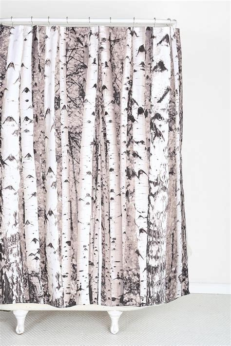 curtain tree birch tree shower curtain