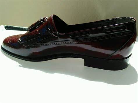 bruno magli leather tassel slip on loafers dress shoe mens