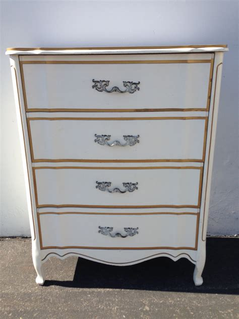 gold dresser french provincial dresser chest drawers white gold shabby chic