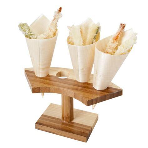 porta cono gelato vassoio porta 4 coni in legno