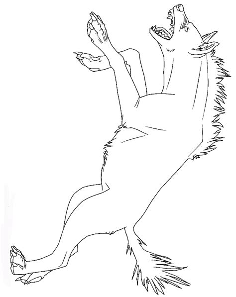 Hyena Coloring Pages animal printable scary hyena coloring sheet