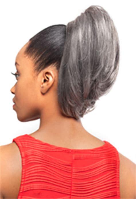 grey hair drawstring ponytail foxy silver synthetic drawstring ponytail ds002