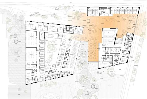 House Floor Plan Gallery Of Town Hall And Health Center Henning Larsen