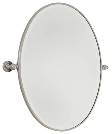 oval pivot bathroom mirror minka lavery 1431 77 standard oval pivoting bathroom