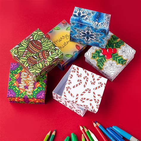 diy christmas gift boxes 6 pack printable paper gift