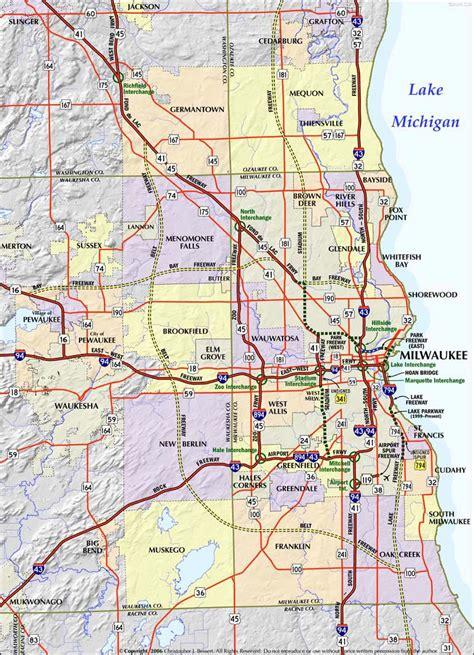 map of milwaukee milwaukee map free printable maps