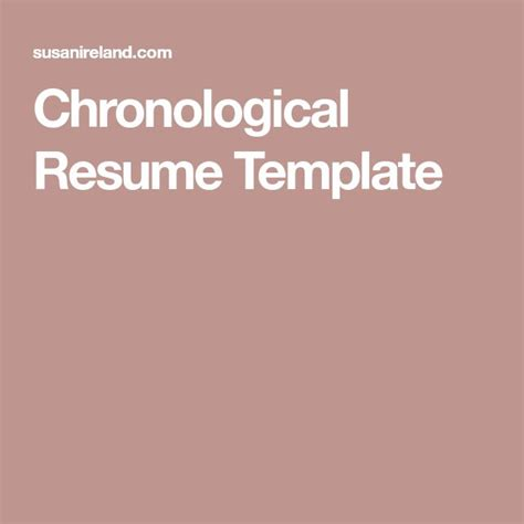 exles of chronological resume best 25 chronological resume template ideas on