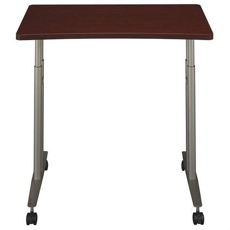 adjustable height c table bush business series c adjustable height table mahogany