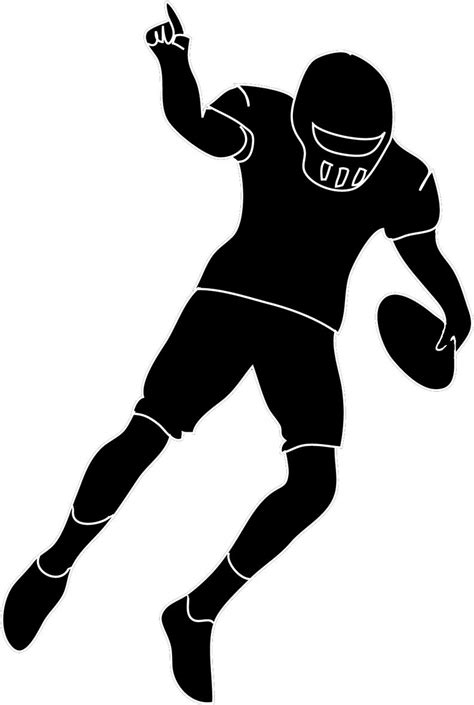 Sports Player Outline by Top Football Player Outline Clipart File Free