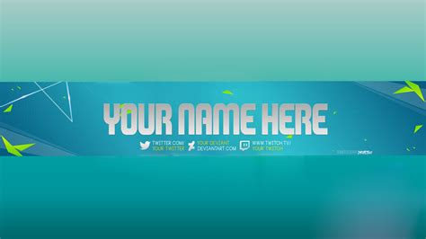 new free 2017 youtube channel art banner photoshop template