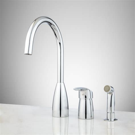 kitchen faucet with sprayer helena widespread kitchen faucet with spray kitchen