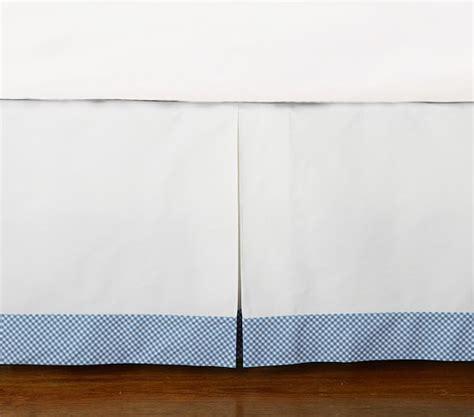 blue gingham crib bedding blue gingham crib skirt pottery barn