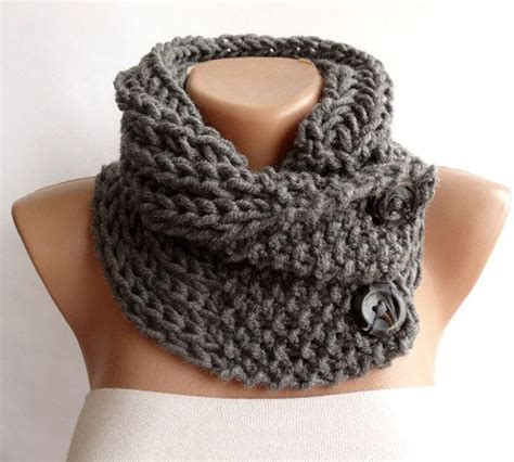 how to knit a scarf left handed knitted scarf neckwarmer button cowl scarf chunky