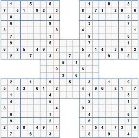 sudoku samurai para imprimir nivel difcil juego sudoku sudoku m 225 s de 350 im 225 genes para jugar e imprimir