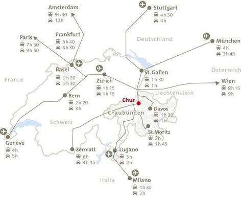 chur map trail map chur brambr 252 esch panorama