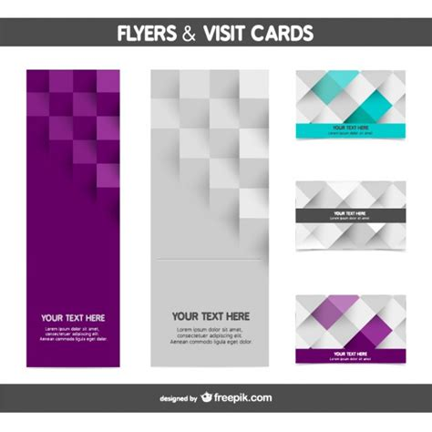 Flyer Design Vorlagen Gratis Mosaic Flyer And Card Templates Vector Free