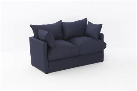 broyhill sofa leanne sofa bed in navy cotton drill