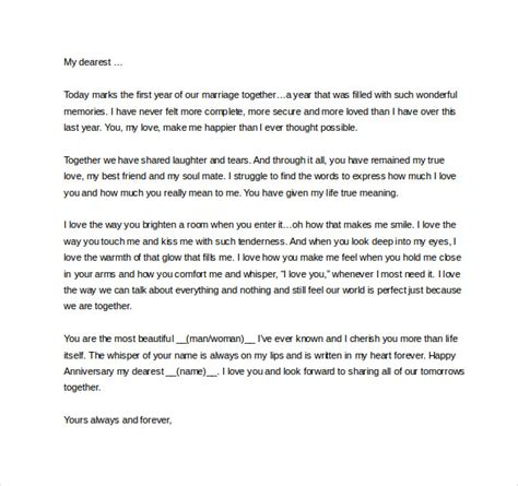 Wedding Anniversary Letter To by Letter To Husband On 1st Wedding Anniversary