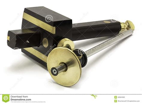 woodworking hand tools marking gauges stock photo