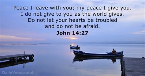 I Give My To You 14 27 bible verse of the day dailyverses net