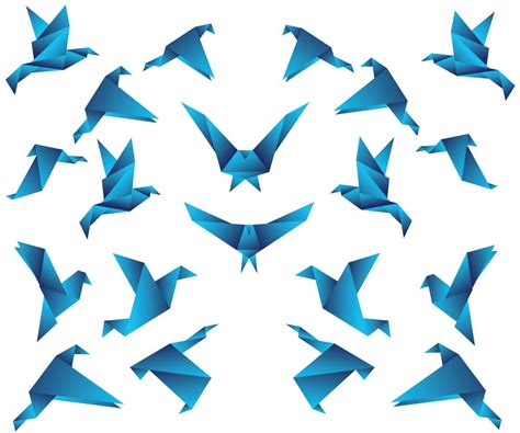 Origami Of Birds - origami vector comot